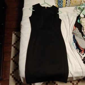 Calvin Klein black dress with zip up back
